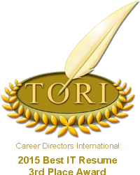 TORI 2015 Best IT Resume Award