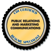 CDI Certified Public Relations and Marketing Communications Resume Specialist