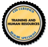 CDI Certified Training and Human Resources Resume Specialist