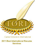 TORI Best International Resume Nominee
